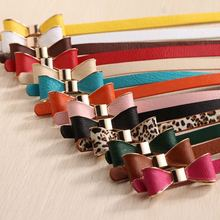 Women s thin belt casual fashion all match women s bow strap female