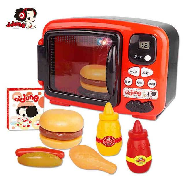 Ddung Kids Simulated Microwave Oven Cooking Food Pot Miniature Kitchen Role Play Toy For Educational