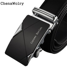 ChenaWolry Hot Fashion Accessory Elegant Luxury Men Leather Automatic Buckle Belts Fashion Waist Strap Belt Waistband Oct 12