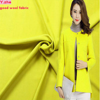 148x100cm TOP Grade Wool Fabric Yellow Wool Fabric Coat Fabric For Sewing Material DIY Fashion Warm