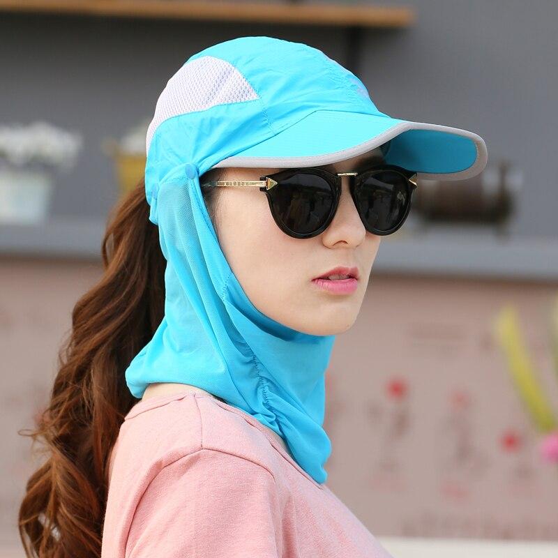 Summer Visor Women Hat  Folded Cap Summer Hats For Women With Neck Protection Baseball Cap For Men Snapback Hat 2