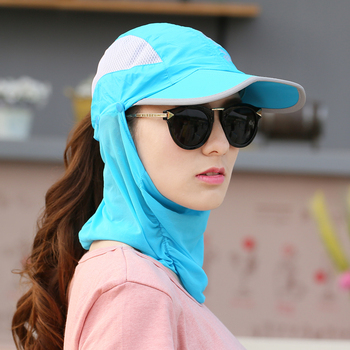 Summer Visor Women Hat  Folded Cap Summer Hats For Women With Neck Protection Baseball Cap For Men Snapback Hat 2