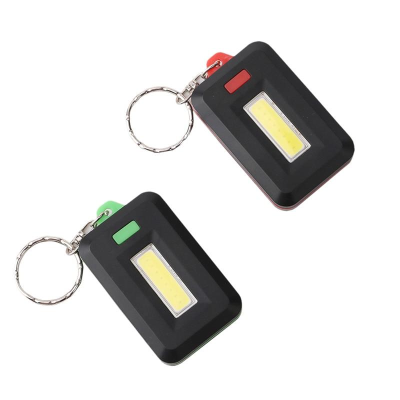 Portable Mini LED Flashlight Light Lamp Key Chain Ring Keychain Lamp Torch Keyring Key Finder Find Lost Keyrings Random Color