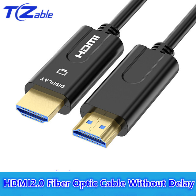 HDMI Fiber Optic Cable 18Gbps 3D 60Hz HD 4K Home Theater Engineering Wearing Special Line HDMI 2.0 Audio Video Cables Projector