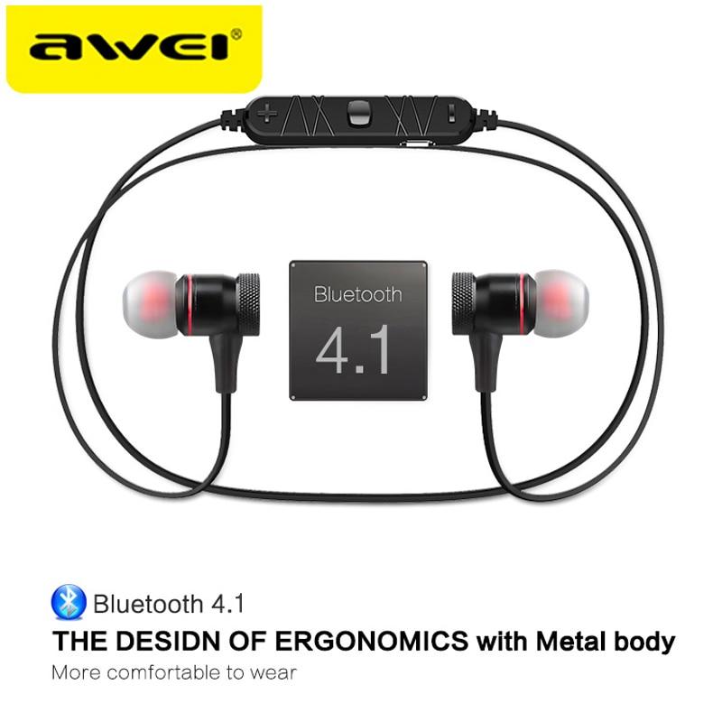AWEI A920BL Update Version Bluetooth V4.1 Earphone Wireless Headphone With Microphone Neckband Headset Auriculares kulakl k 2