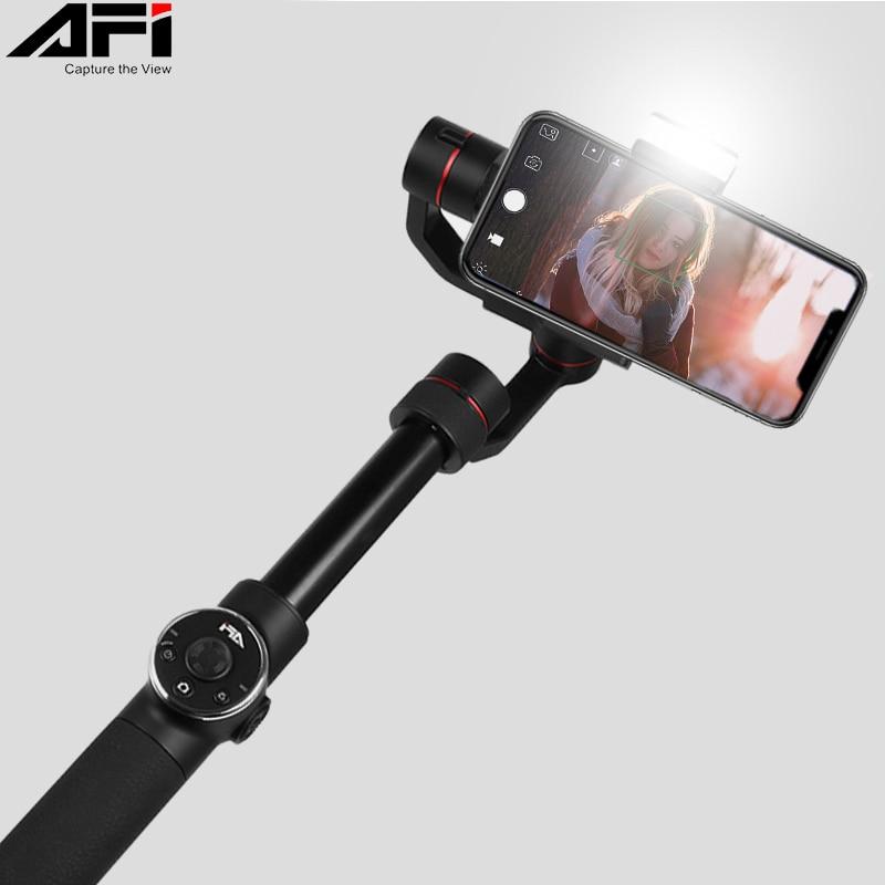 AFI V5 Cardan Stabilisateur Pour Téléphone Selfie Bâtons 3-Axes De Poche Smartphone stabilisateur cellulaire téléphone Pour Gopro Camera Action