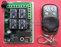 Бесплатная Доставка!!! Quad плавающий код переключатель комплект 433 М реле 4-канальный приемник доска с HCS301 металла дистанционного управления
