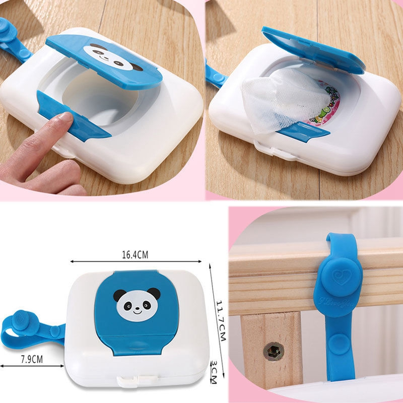 Estuche para toallitas de bebé lindo portátil dispensador para cuerdas para cochecito tapa cubiertas cajas de pañuelos reutilizables