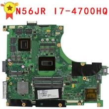 N56JR Motherboard for Asus i7 4700HQ N56JR REV2 0 Mainboard GeForce GTX760M 2G GTX 760M Fit