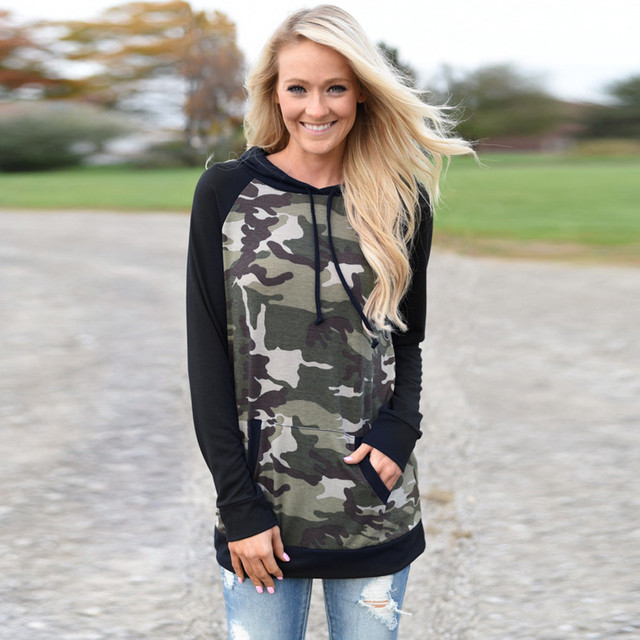 klv camouflage hoodies women sweatshirts hoodies vrouwen oversize cute sweatshirt women