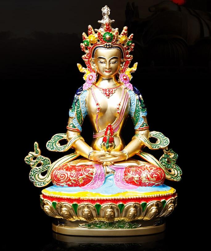 Special offer 2019 HOME patron saint efficacious Protection Buddhism Buddha gilding Amitabha Amitayus Buddha brass statue
