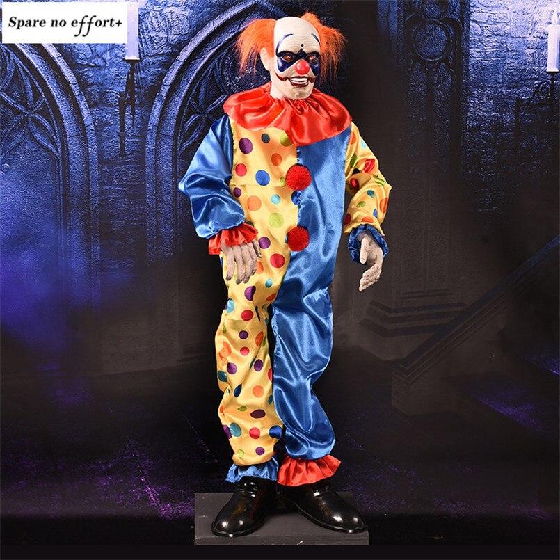 Дом с привидениями домашний КТВ Бар Хэллоуин украшение страшный реквизит кукла клоун электрические страшные глаза светящиеся Кричащие При