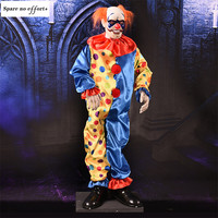 Haunted House Escape Home Ktv Bar Halloween Decoration Scary Props Clown Doll Electric Scary Eyes Glowing Screaming Ghost Decor