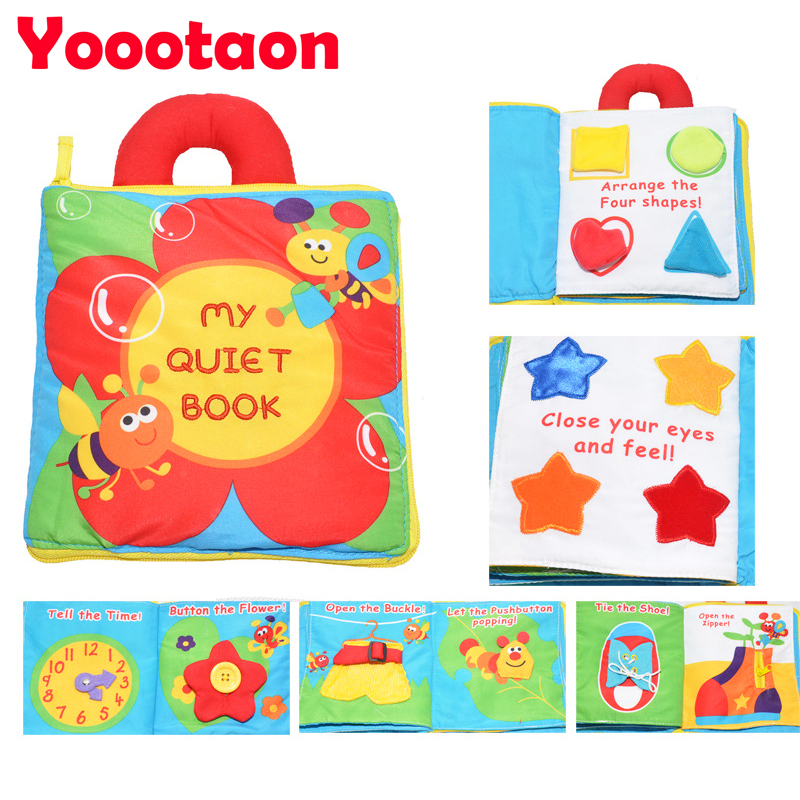 3d Early Education Cloth Book Baby Toys Teether Infant