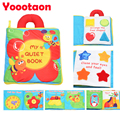 3D Early Education Cloth Book Baby Toys Teether Infant Colorful Animals Cartoon Book For Newborn Kids toys Soft Baby Rattles