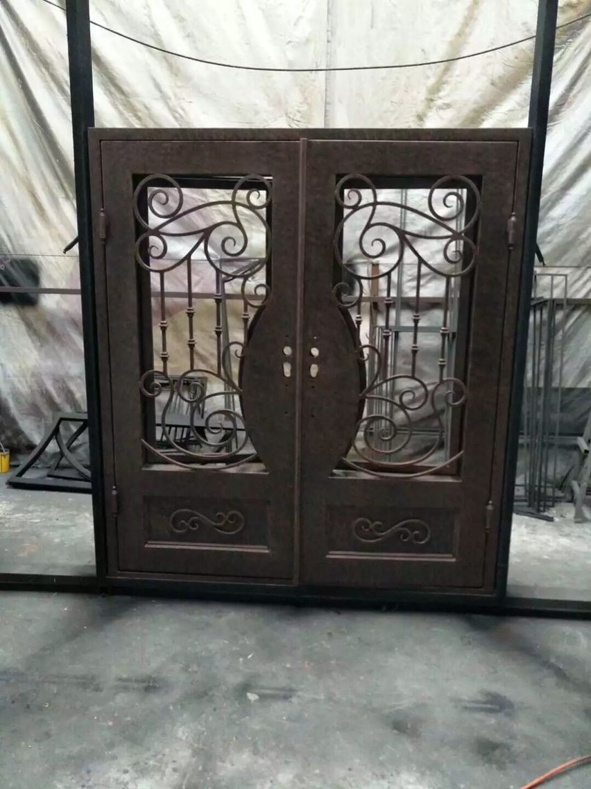 hand made custom design forged iron wrought iron doors for sale ...