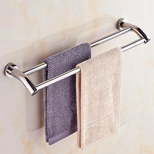 Custom size towel bar single layer stainless steel wall ...