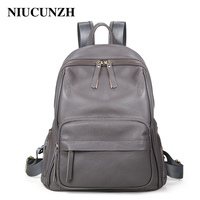 NIUCUNZH Women Travel Backpack Cow Leather Multifunction Female Back Bags Fashion Large Capacity Girl School Bag 1875