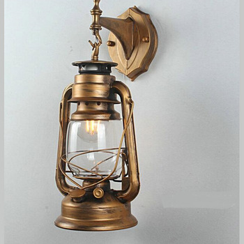 ǁ�油ランプ鉄ledランプ壁ランプバルコニーヴィンテージオイルランプノスタルジックな装飾照明農民のランタン