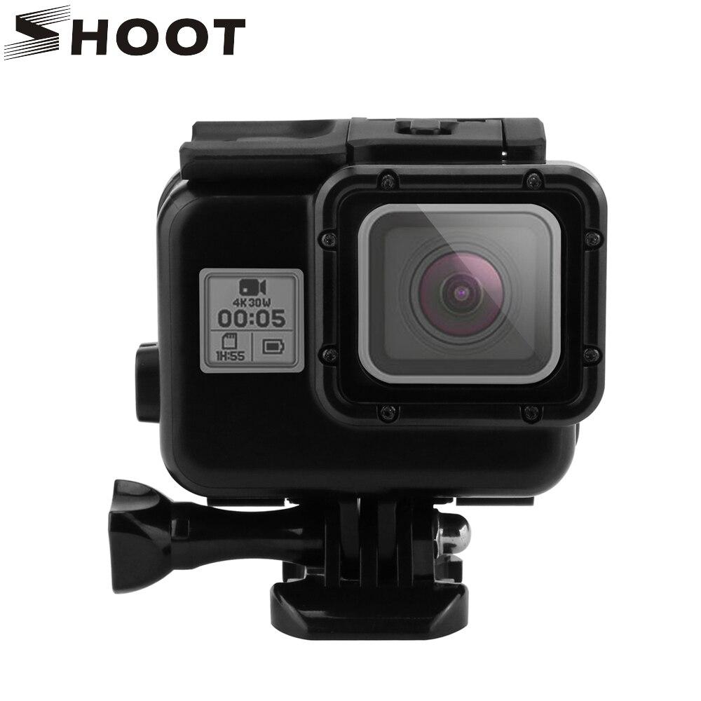 SCHIEßEN 45 mt Tauchen Unterwassergehäuse für GoPro Hero 6 5 Schwarz Action Kamera Unterwasser Gehäuse Case Berg für Go Pro 6 5 zubehör