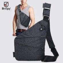 цена на Brilljoy Casual Chest Bag Compact Single Shoulder Bags for Men Waterproof Nylon Crossbody bags Male Messenger Bag High Quality