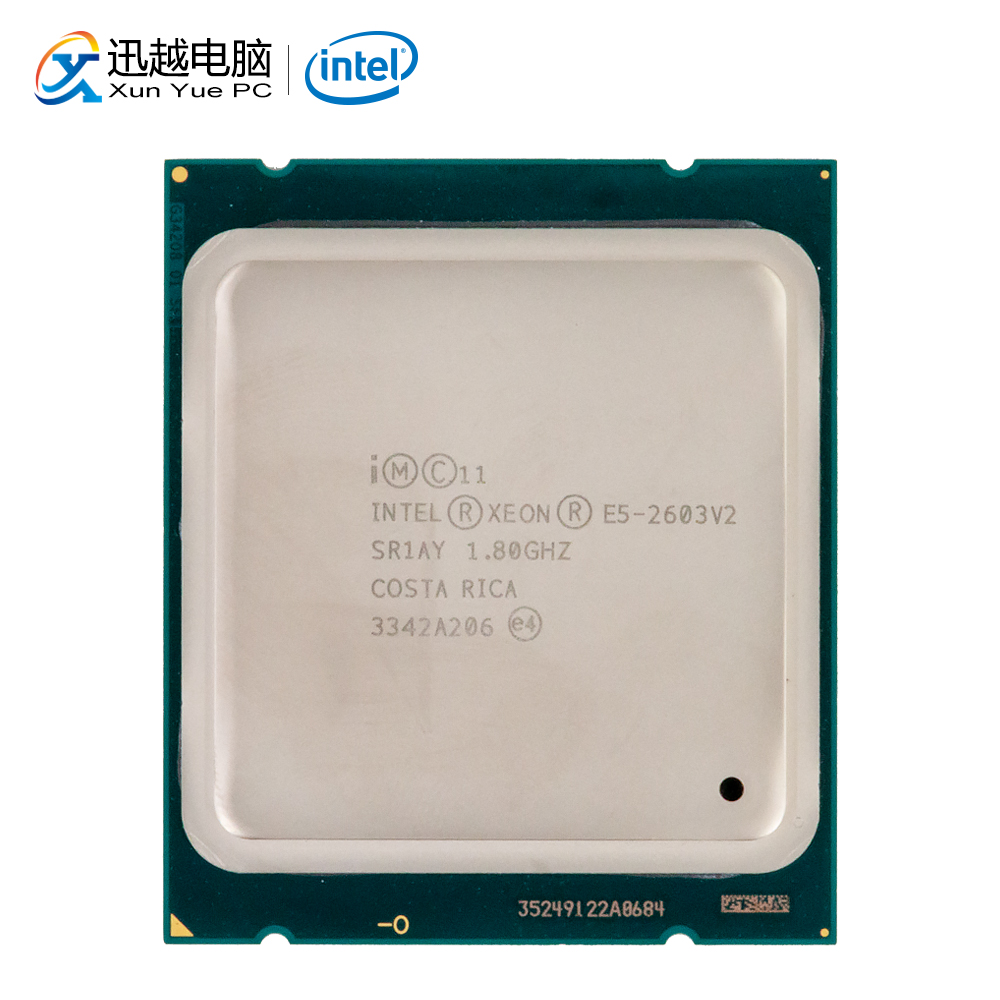 Intel <font><b>Xeon</b></font> E5-2603 V2 Desktop Processor 2603 V2 Quad-Core 1.8GHz 10MB L3 Cache <font><b>LGA</b></font> <font><b>2011</b></font> Server Used CPU image