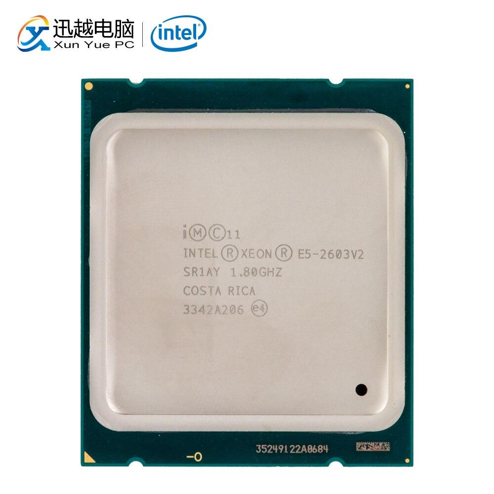 Intel Xeon E5-2603 V2 Processador para Desktop 2603 MB L3 V2 Quad-Core 1.8 GHz 10 Cache LGA 2011 Servidor CPU usado