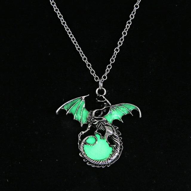 Game of Thrones Luminous Dragon Pendants Necklace