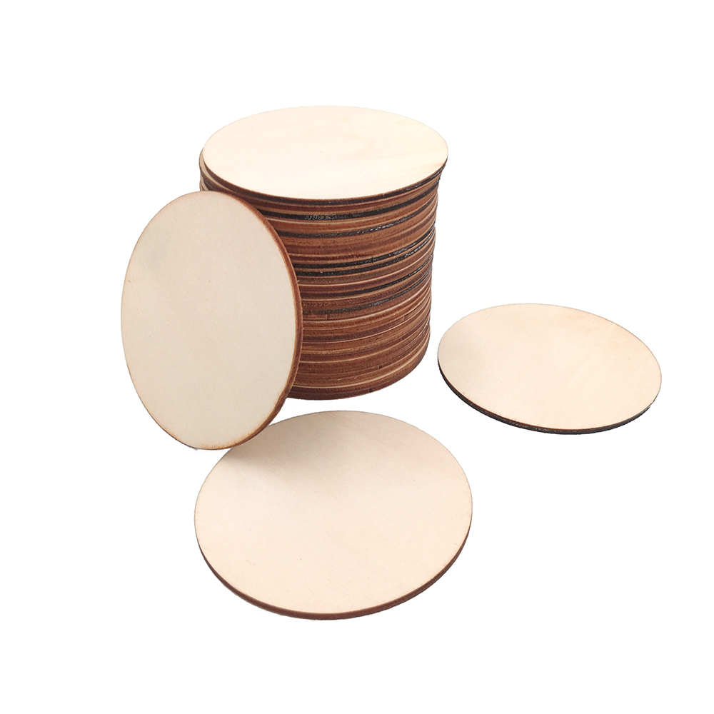 Wood Crafting paint DIY Decoupage Craft  60mm 6cm 10 x Wooden Circle Shapes