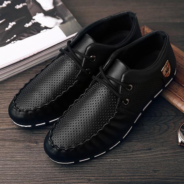 Men Ferrari Leather Loafers