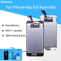 AAAA Display Complete Full Assembly For iPhone 6s plus 6sp A1634 A1687 A1699 LCD 3D Touch Screen Digitizer +Front Camera +Button