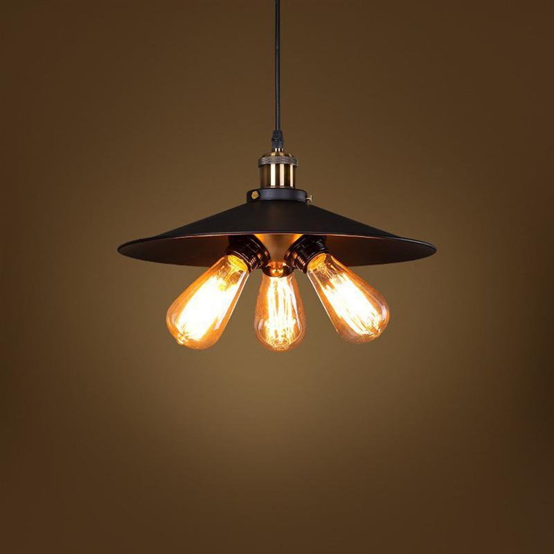 Lamp Light Nordic Vintage Loft Pendant Light Retro Hanging Ceiling Lamp E27 Holder With 3 Head