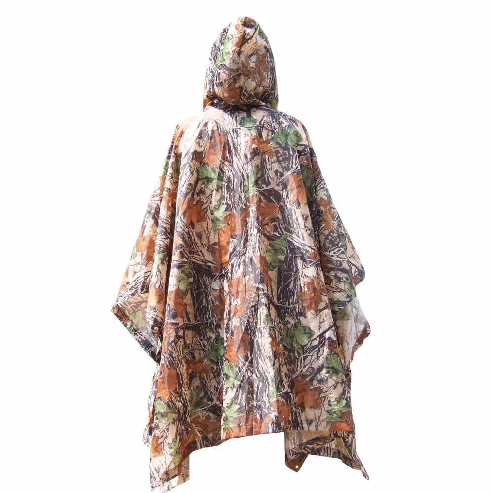 Sun Shelter 3 в 1 Многофункциональный Открытый военный дорожный Камуфляжный плащ пончо рюкзак с защитой от дождя водонепроницаемый коврик для палатки