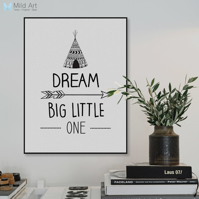 New Modern Black White Dream Big Motivation Quotes A4 Art Print Poster  RI57