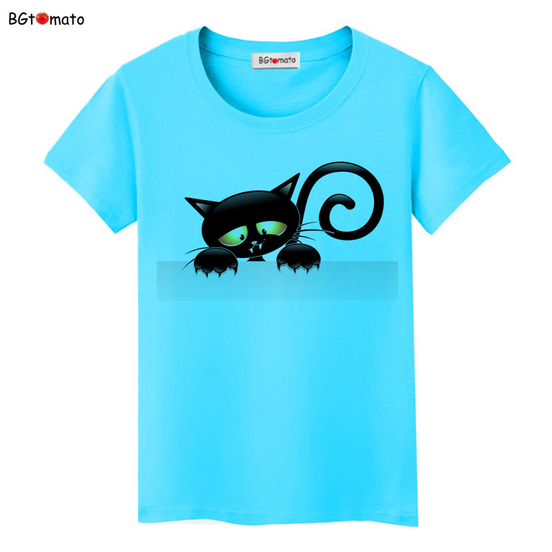 BGtomato super cool elegant cat t shirt women hot sale clothes lovely tshirt fashion top tees t-shirt Brand kawaii shirt 6