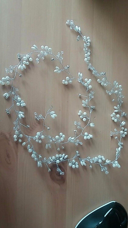 Lujo plata oro perla cristal nupcial diademas corona tocado - Bisutería - foto 4