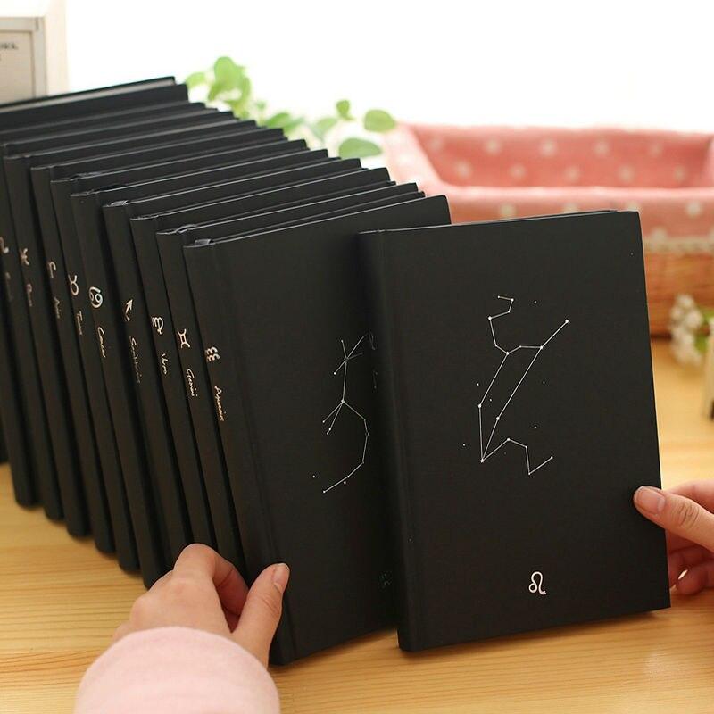 Kühle Zodiac Jahrgang Tagebuch notebook papier 96 blätter notebook notizblock Kreative notizbuch Büro Schule Flasht notebooks