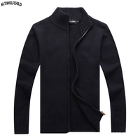 Fashion male sweaters Autumn Winter Mens long sleeve zipper knitting sweaters casual 100% cotton mens knitted zipper outerwer