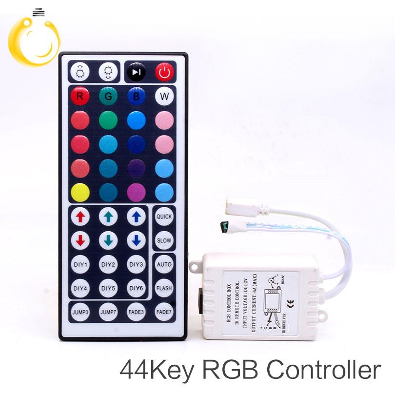 Led Controller 44 Keys LED IR RGB Controler LED Lights Controller IR Remote Dimmer DC12V 6A For RGB 3528 5050 LED Strip