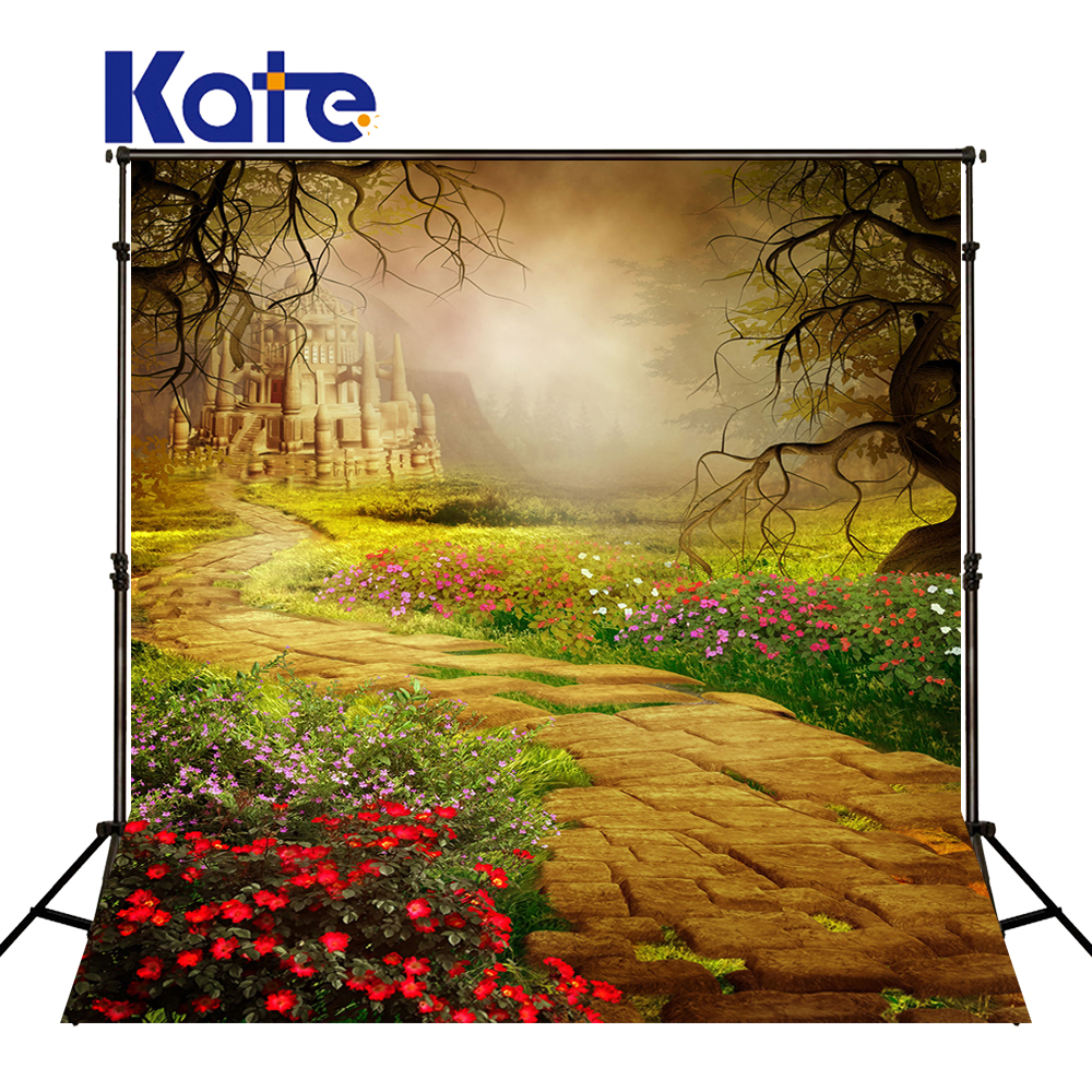 KATE Photography Backdrop Garden Background Floral Backdrops Castle Photography Backdrop Fairy Tale Forest Background for S пижама castle garden