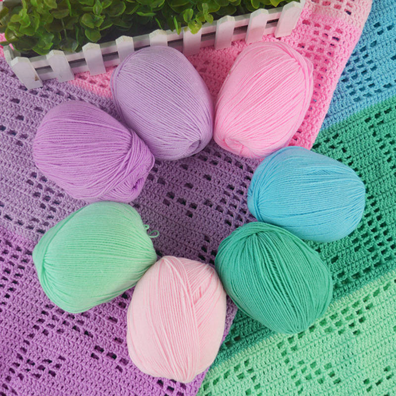 DoreenBeads Soft Velvet Protein Knitting Yarn Crochet Skin-friendly DIY Shoes Hat Scarf Cushions Baby about 50g 1PC (1Roll= 1PC)