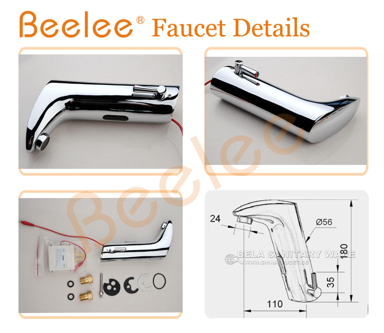 Beelee BL0105M Hot And Cold Automatic Hands Touch Free Sensor Faucet ...
