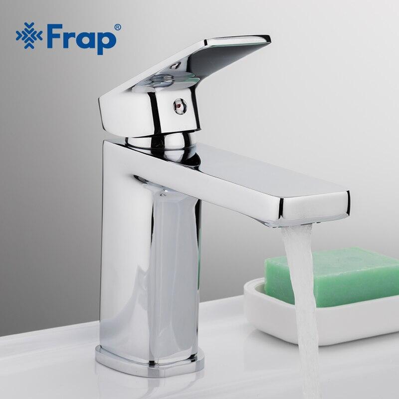 Frap новая ванна смеситель латунный Chrome раковина смесителя тщеславия горячая холодная и воды смесителя Смесители для ванной комнаты F1046