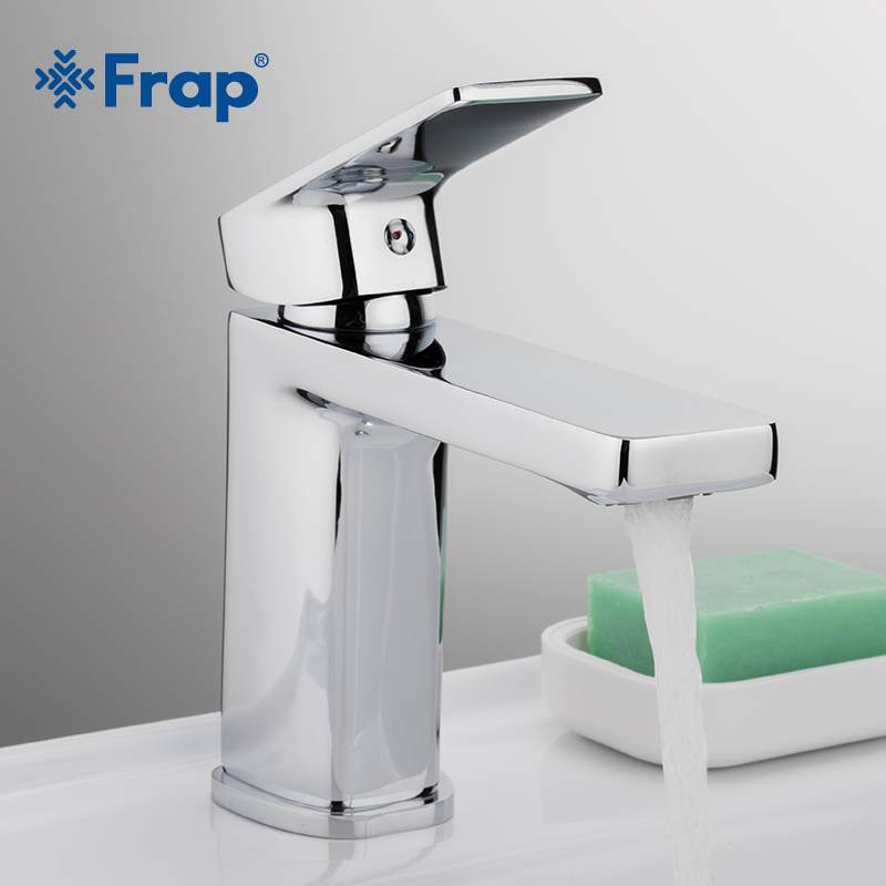 Frap New Bath Basin Faucet Brass Chrome Faucet Sink Mixer Tap Vanity Hot Cold And Water Mixer Tap Bathroom Faucets F1046