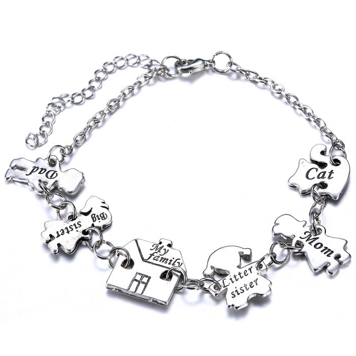 new arrival family bracelet bangles jewelry silver