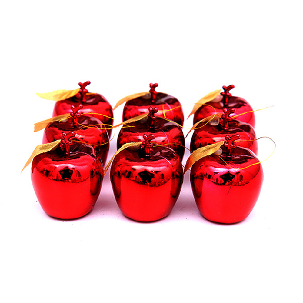 12pcs/set <font><b>Christmas</b></font> Decoration Apples Fruit Pendant <font><b>Christmas</b></font> Tree Hanging Ornament Party Events Xmas Hanging Ornament Supply image