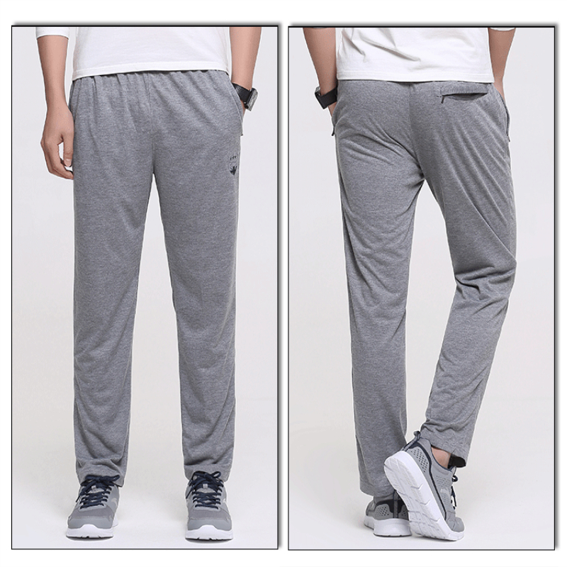 New men's outdoor running fitness sports straight pants Spring and autumn thin section quick-drying wicking casual trousers