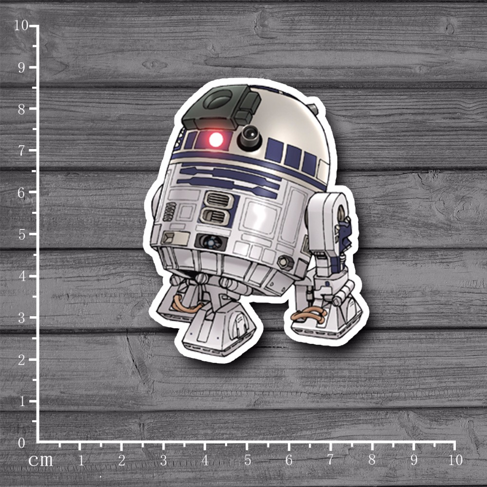Star Wars Character III R2 Waterproof Laptop Notebook Skin Sticker Car Styling Home Decor Jdm Kid Toy Suitcase Stickers[single]