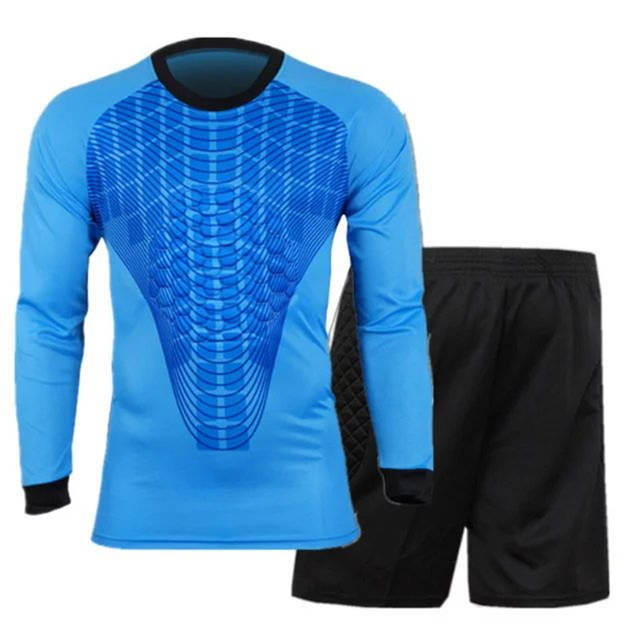 4bca1e6b6 placeholder Survetement Football Mens Short Soccer Goalkeeper Jersey Set  Quick Dry Goalkeeper Uniform Long Sleeve Team Goal