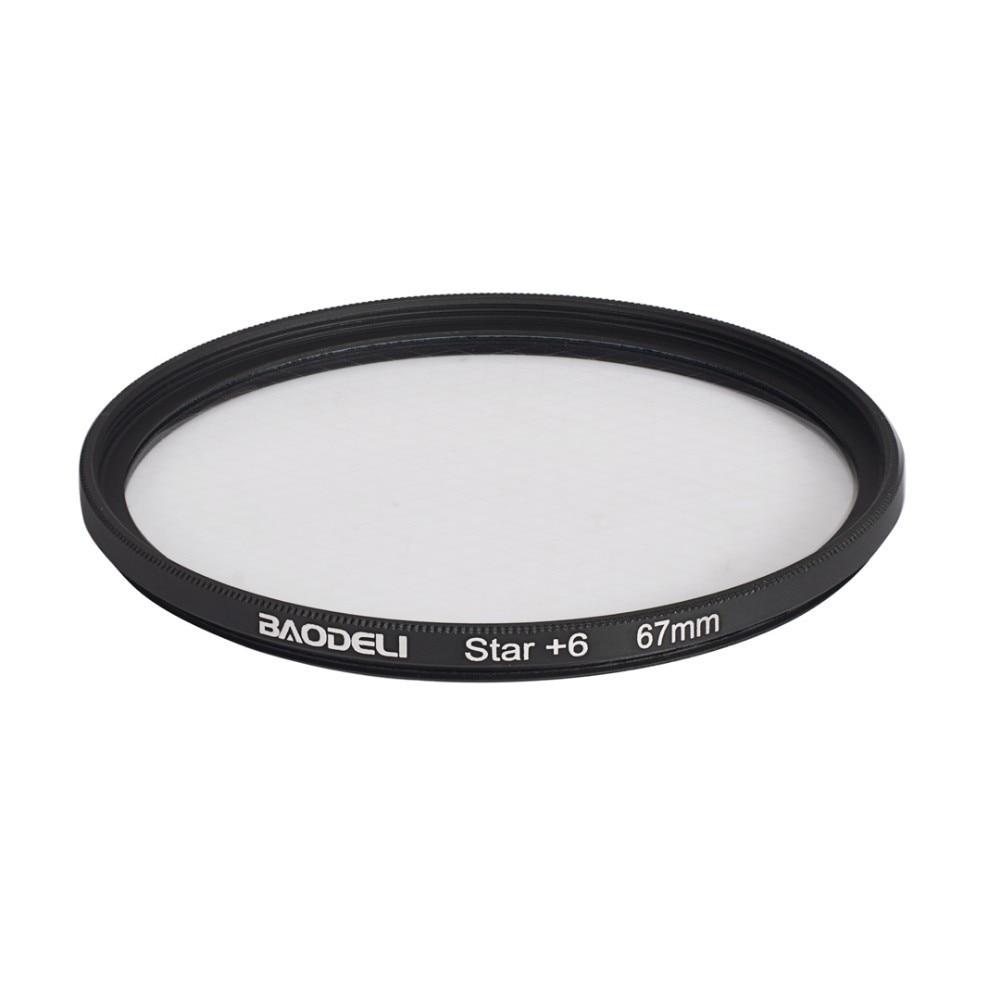 """מוצרי חשמל לבית BAODELI מצלמה עדשה Filtro כוכב מסנן 6 פוינט 49 52 55 58 62 67 72 77 82 מ""""מ עבור אביזרים Canon DSLR Nikon Sony X3000 A600 (3)"""
